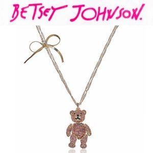 Betsey Johnson Teddy Bear Necklace